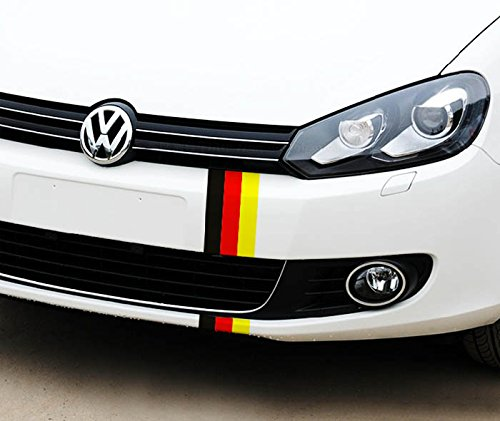 Ijdmtoy 1 10 Germany Flag Color Stripe Decal Sticker For Euro Car