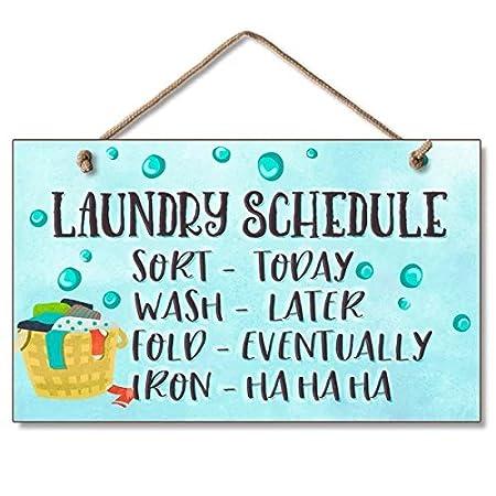Personalizado cartel de madera, lavandería para colgar ...
