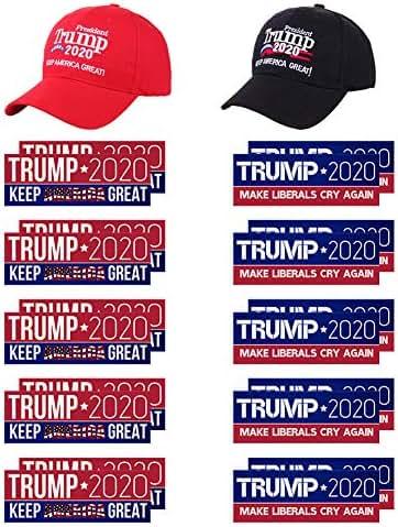 LITA Donald Trump Flag 2020 Trump Make America Great Again Hat and Bumper Stickers Car for Supporting President Trump-22PCS