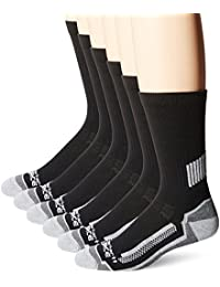 Breathable & Lightweight Work Crew Men`s Socks | Odor Resistant Socks with Reinforced Heel