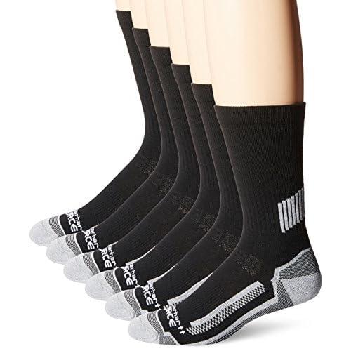 3 Pack Mens Force Performance Work Crew Socks BLACK Shoe Size 11-15 new