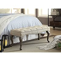 Dinant Cabriolet Washed Natural Linen Bench