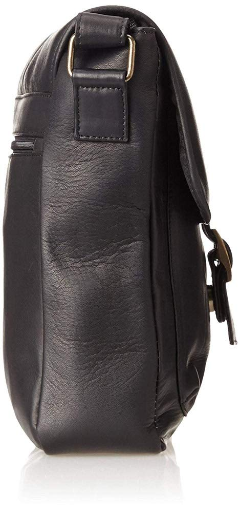 Claire Chase Versailles Leather Man Bag in Black