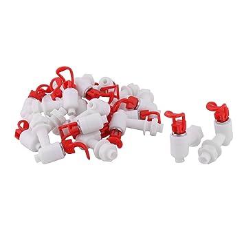 sourcingmap® Home Oficina plástico sola palanca del dispensador del agua del grifo del interruptor rojo
