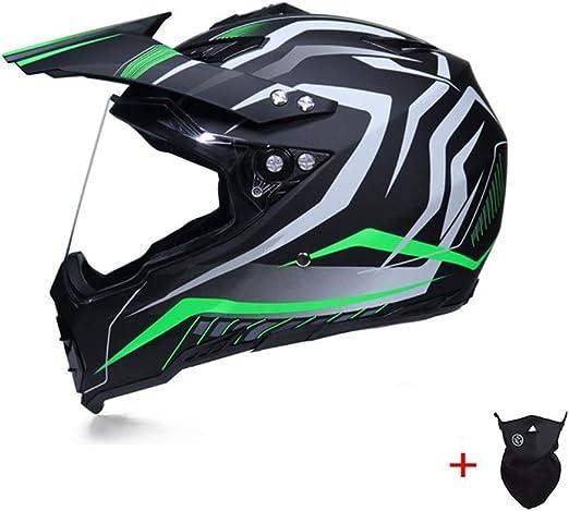 Qlkx Casco de Motocross, Cascos integrales Unisex, máscara de ...