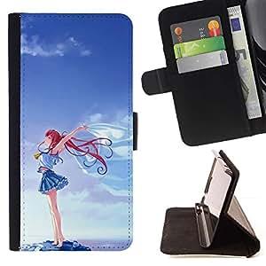 Momo Phone Case / Flip Funda de Cuero Case Cover - Corazón del trullo Rosa Púrpura Patrón - Sony Xperia Z1 Compact D5503