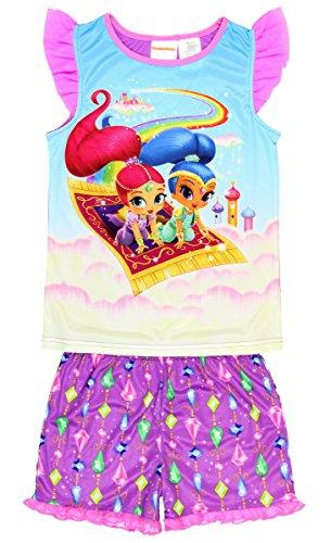 Shimmer and Shine Girls Shorts Pajamas 6-12 (M (7/8))
