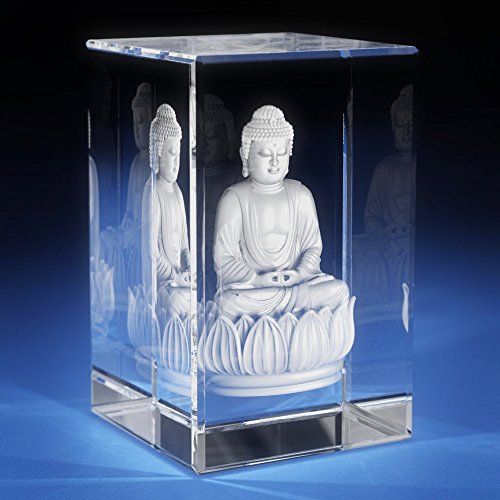 3D Laser Crystal Glass Etched Engrave Paperweight Gifts Buddha Portrait S Transperant Clear - Etched 4 Ornament Laser