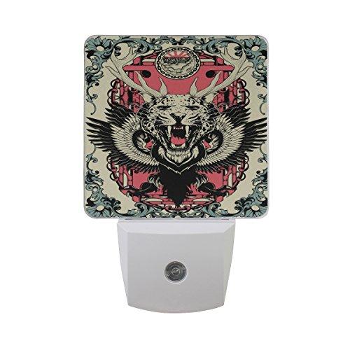 Saobao - Luz de noche LED para ahorro de energía con diseño de animales, ideal para recámara,...