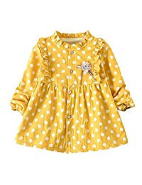 OcEaN Toddler Baby Girls 6 Months-5T Thick Polka Princess Dress Warm Clothes