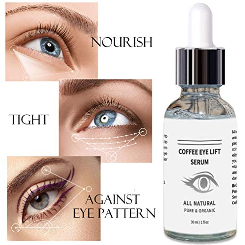 Mererke_Pretty Coffee Eye Lift Serum, Organic, Anti Aging, Natural Reduces Puffiness, Brightens Tired Eyes (30ml/1 Fl.oz…