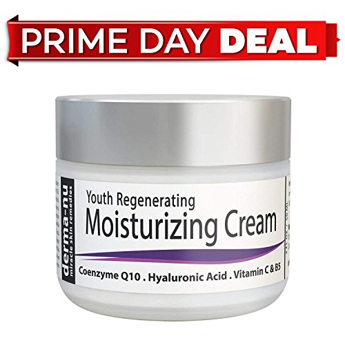 Natural Anti Aging Face Cream - Organic Facial Moisturizer for Firm Age Defying Skin - Fine Lines, Dark Spots & Eye Wrinkles - Hydrating Day or Night Skincare for Women - Vitamin C & Hyaluronic Acid