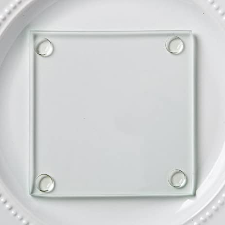 Perfectly Plain Collection Clear Glass Coasters , 100