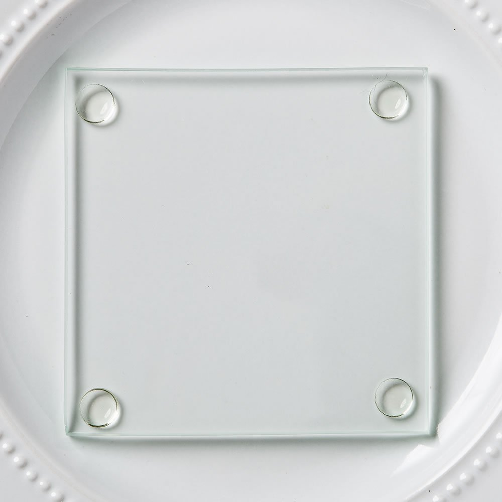 FavorOnline Perfectly Plain Collection Clear Glass Coasters, 200