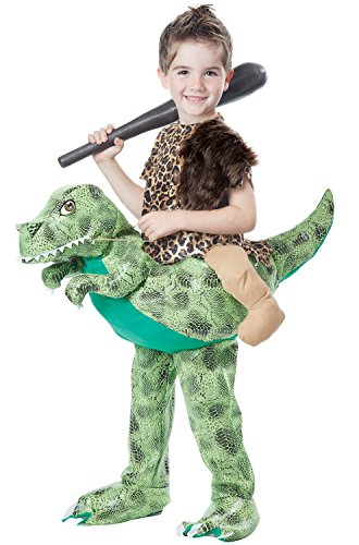 Kid Dinosaur Toddler Costumes Dino (California Costumes Dino Rider Child Costume, Brown/Green, Toddler)