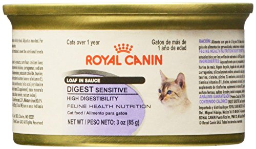 Amazon.com : Royal Canin Feline Health Nutrition Loaf In Sauce - Sensitive Digest - Pork - 3 Ounce - 24 Count : Pet Supplies