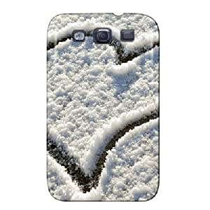 Snow Heart TPU For Sumsang Galaxy S3 Silver Case