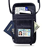 FREETOO Neck Wallet Pouch Water-Resistant Travel Hidden Passport Holder with RFID Blocking for Women Men Fit for Passport Credit Cards Money and Documents