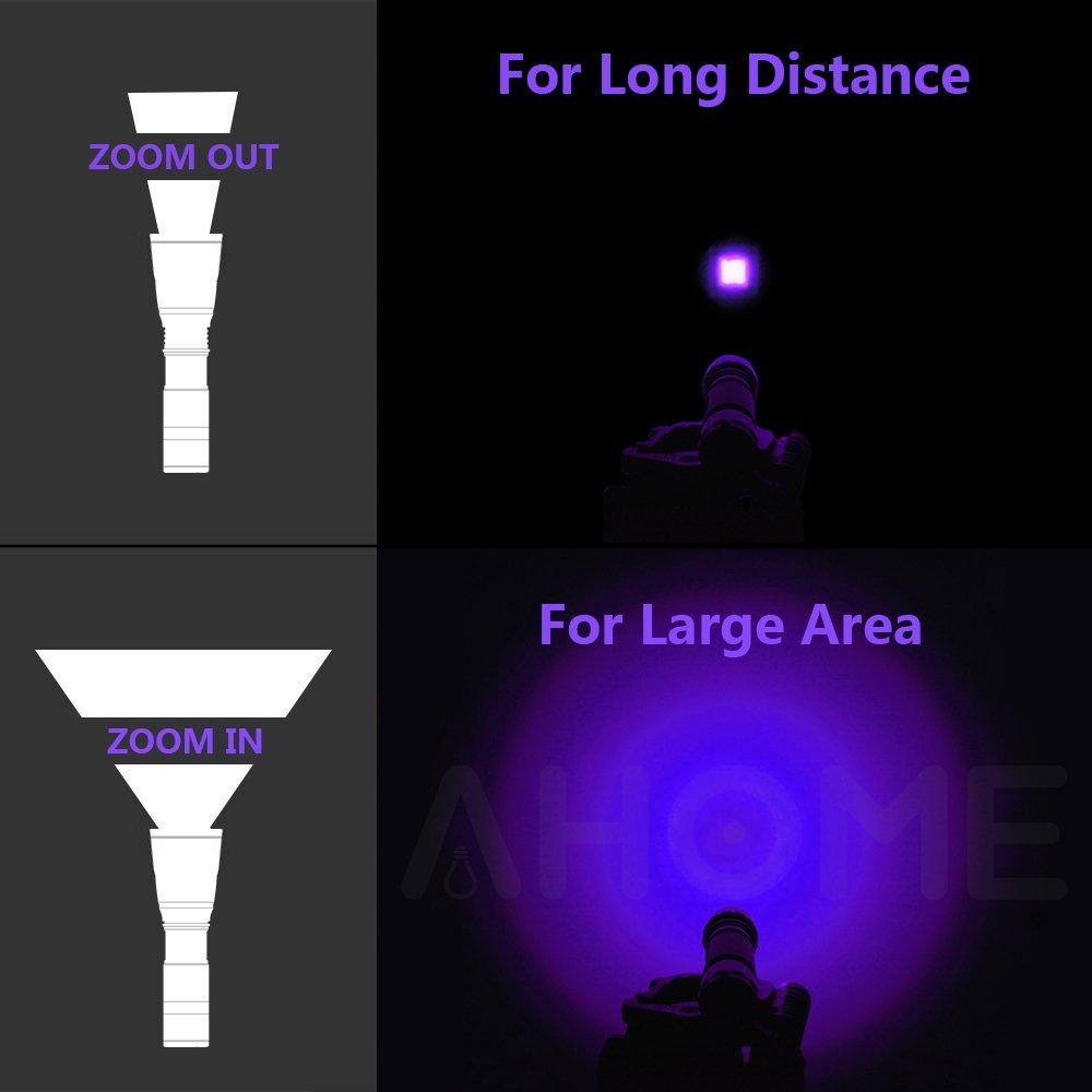 Uv Black Light Flashlight Ahome Blacklight Ultraviolet Led Pet