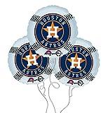 Houston Astros Baseball Mylar Balloons - 3 Pack