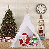 Molisell Kids Teepee Tent with Padded Mat & Light