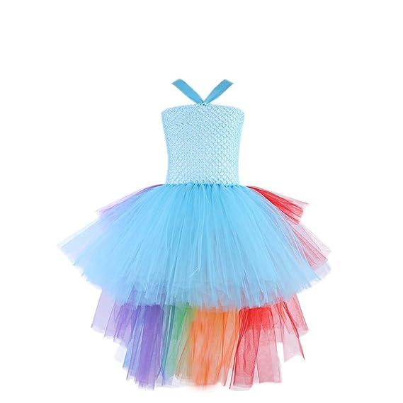 K-youth Vestidos Bebé Niñas Fiestas Boda Arco Iris Vestido de Princesa Bautizo Cumpleaños Vestido
