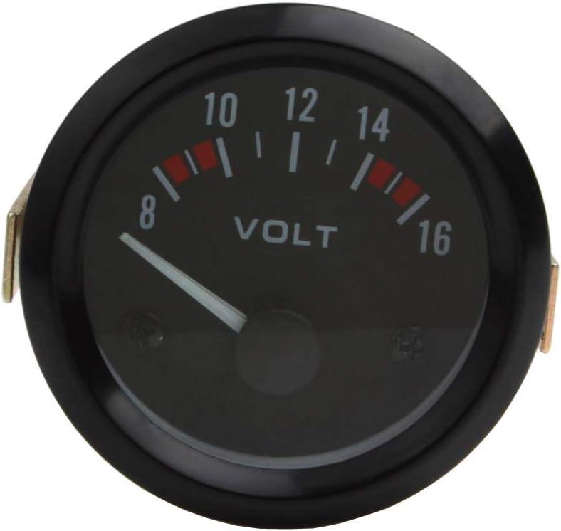 Mintice 12V Auto 2 52mm Universale Manometro Bianca LED Leggero Misuratore di Temperatura dellAcqua Misura Fumo Viso Tinta Fahrenheit indicatore