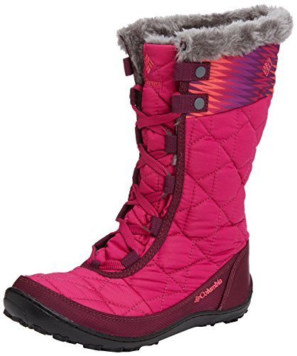 888664561286 - Columbia Youth Minx Mid WP OH Winter Boot (Little Kid/Big Kid), Deep Blush/Tropic Pink, 4 M US Big Kid carousel main 0
