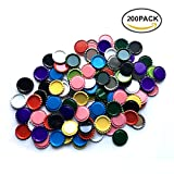 used beer caps - HAWORTHS 200 PCS Flat Decorative Bottle CaP Craft Bottle Stickers Double Sideds Printed for Hair Bows, DIY Pendants or Craft ScraPbooks Mixed Colors(10colors)