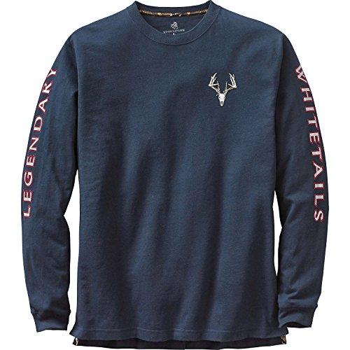 Free Legendary Whitetails Men's Legendary Non-Typical Long Sleeve T-Shirt Navy Large