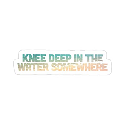 Vijk kor Knee Deep in The Water Somewhere Stickers (3 Pcs/Pack): Kitchen & Dining