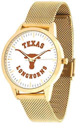 Texas Longhorns - Mesh Statement Watch - Gold Band