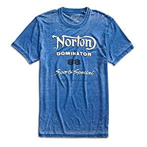 Lucky Brand Men's - Distressed Norton Dominator 88 Motorcycle T-Shirt (XX-Large)