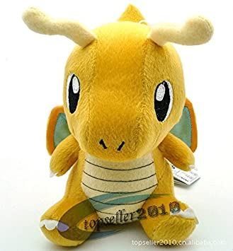"J.G Chen Pokemon Plush Toy Dragonite 7"" Cute Collectible Soft Stuffed Animal Doll PB10 Peluche"