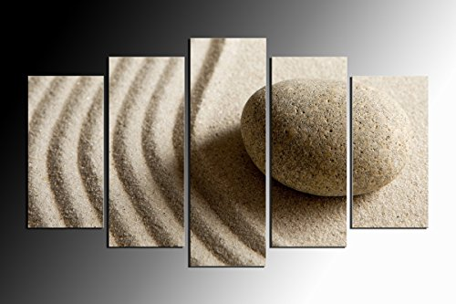 HappyHouseArt 5 Panels Desert stones HD Canvas Print Painting Artwork Landscape Wall Art Picture Gift for Living Room No Frame