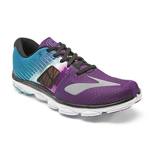 Brooks Track Shoes - Brooks Women's PureCadence 4 Running Shoes (7 B(M) US, Holly Hock/Bluebird/Black)
