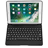 iPad Air Keyboard case, COOPER NOTEKEE F8S Bluetooth QWERTY Wireless Keyboard Hard Clamshell Carrying Case Cover with 7 Backlit Colors for Apple iPad Air (Black)
