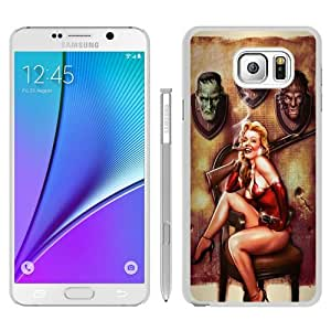Newest Samsung Galaxy Note 5 Case ,Popular And Beautiful Designed Case With Halloween Pinup Monster Trophies Rifle white Samsung Galaxy Note 5 Screen Cover High Quality Phone Case