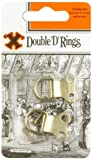 X 2 - Double Brass Plated D-rings