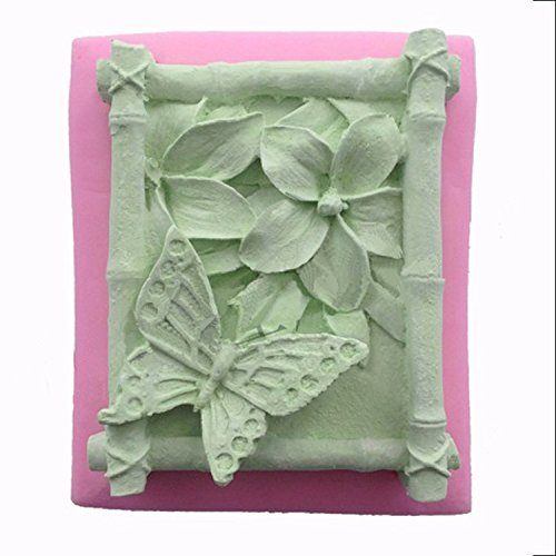 WYD Handmade Soap Mold DIY Flower Fairy Mold Chocolate Cake Mold Silicone Mold Baking Mold