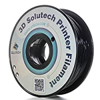 3D Solutech Real Black 3D Printer PLA Filament 1.75MM Filament, Dimensional Accuracy +/- 0.03 mm, 2.2 LBS (1.0KG) - 100% USA from 3D Solutech
