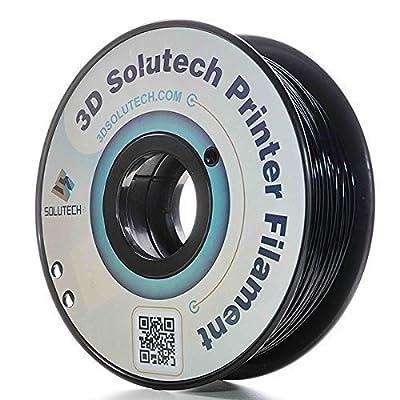 3D Solutech Real Black 1.75mm 3D Printer PLA Filament 2.2 LBS (1.0KG) - 100% USA
