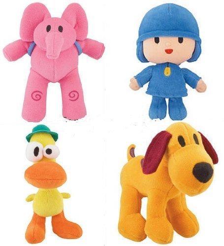 Pocoyo & Friends Mini Plush Doll Figure Set of 4 - Pocoyo, Pato, Loula & Elly