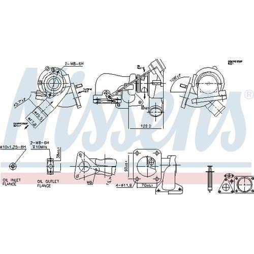 Nisss 93251 Turbo Charger: