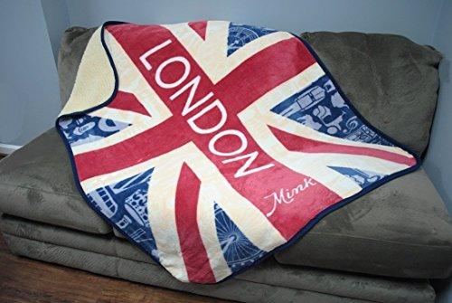 Mink Emotions - British Union Jack Luxury Throw Sherpa Blank