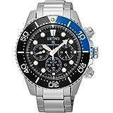 SEIKO セイコー クロノグラフ アナログ ソーラー メンズ 腕時計 ssc017p1 海外モデル ブラック×シルバー 逆輸入品