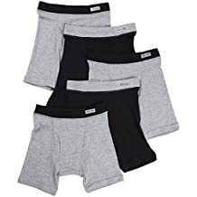 Fruit of the Loom boys Covered Waistband Boxer Brief (Pack of 5)