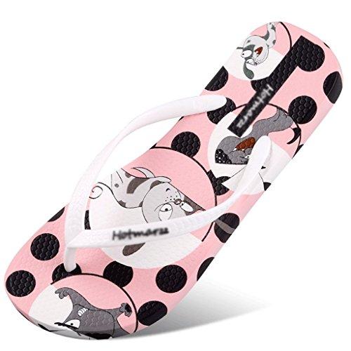Slippers Female Summer Flat Slip Female Sandals Beach Shoes (Color : White, Size : 39) White