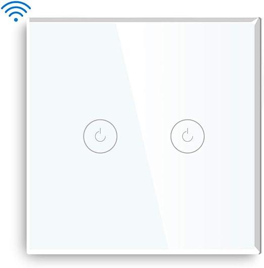 BSEED WLAN Dimmer LED Lichtschalter WIFI Touch Schalter Glas Wandschalter Tuya