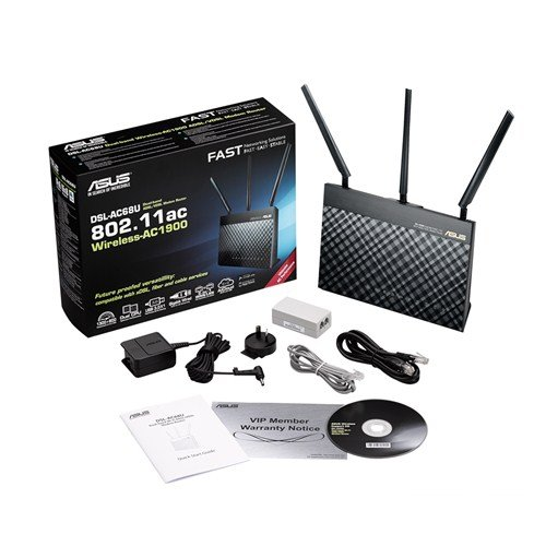 ASUS DSL-AC68U AC1900 Dual-Band Wireless VDSL/ADSL 2+ Gigabit Modem Router (USB 3.0 for Media Server for Phone Line Connections - BT Infinity, YouView, TalkTalk, EE and Plusnet Fibre)